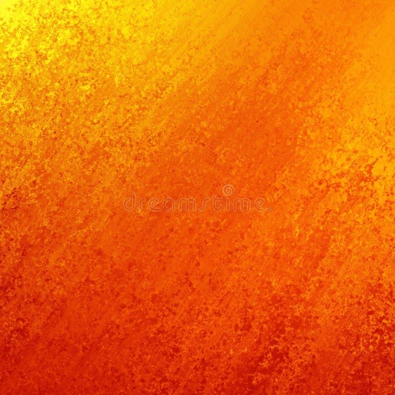 Jaskrawej czerwonej pomarańcze i żółtego złota tło z wędkującym obmytym tekstura projektem ilustracji