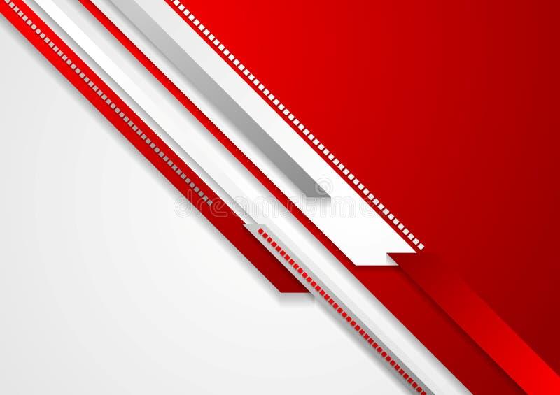 Jaskrawej czerwonej technologii korporacyjny tło royalty ilustracja