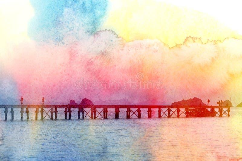Jaskrawej pięknej fotografii retro morze fotografia royalty free
