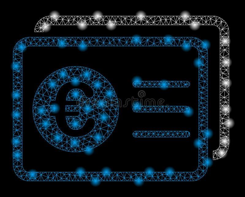 Jaskrawej siatka drutu ramy Euro konta bankowe z raców punktami royalty ilustracja