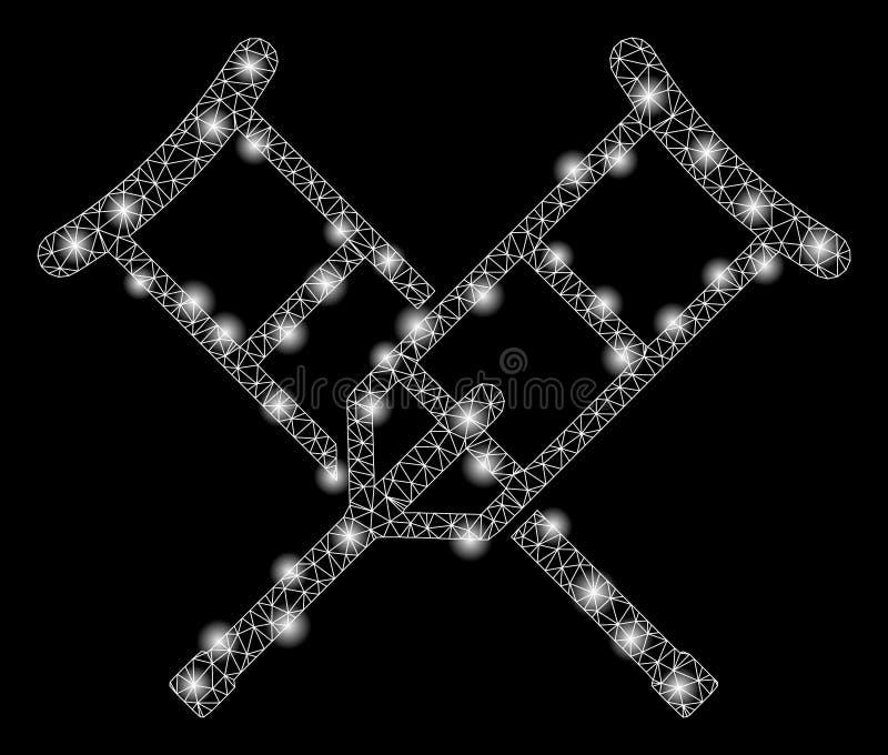 Jaskrawej siatki 2D szczudła z Błyskowymi punktami royalty ilustracja
