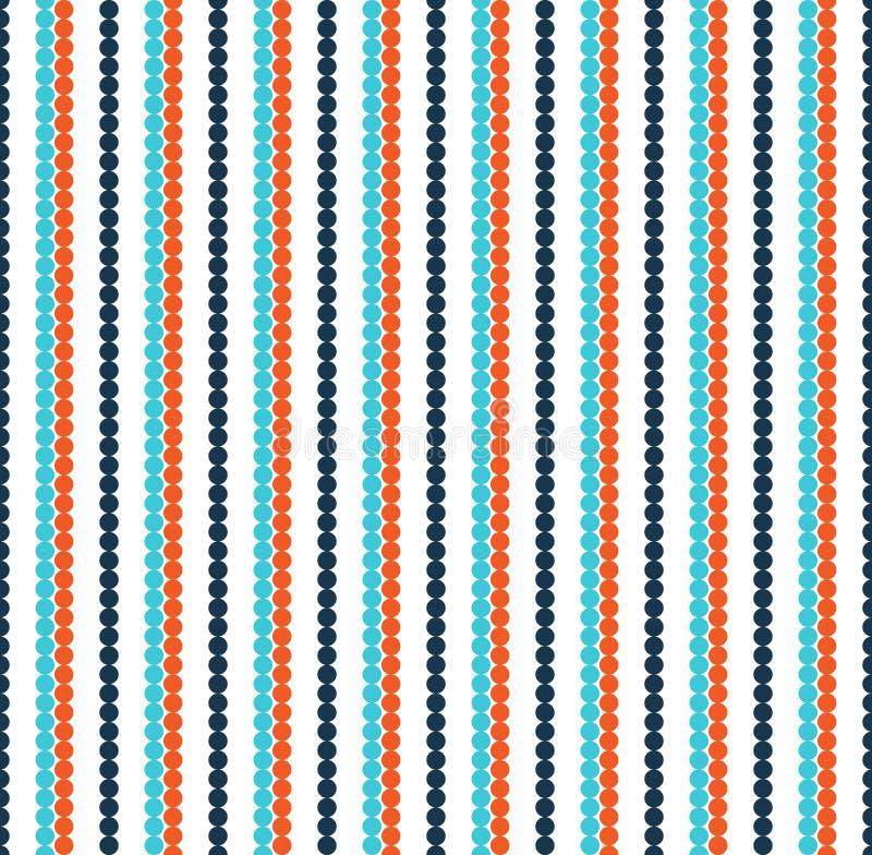 Jaskrawej zabawy abstrakcjonistyczny bezszwowy wzór z liniami na whit ilustracji