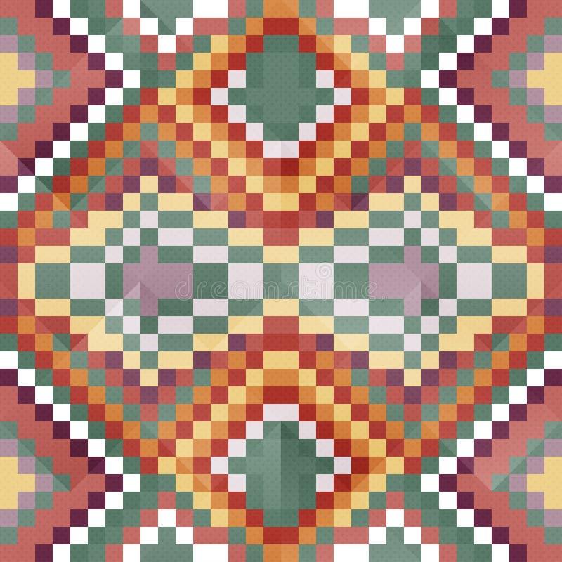 Jaskrawi barwioni wieloboki na ciemnego tła geometrycznej bezszwowej deseniowej wektorowej ilustraci ilustracja wektor
