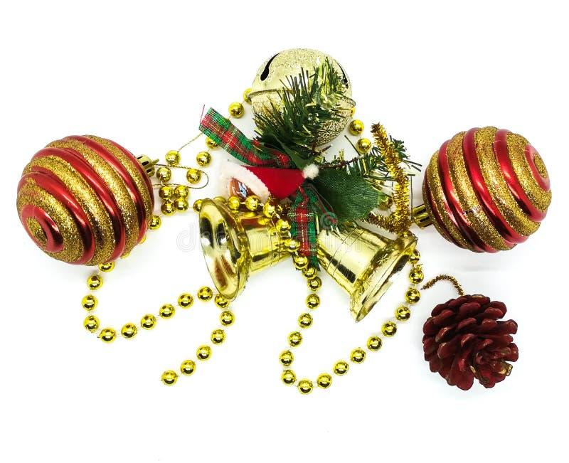 Jaskrawi boże narodzenie ornamenty w składzie obrazy royalty free