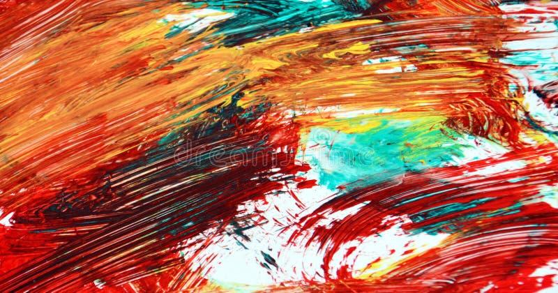 Jaskrawi kolory maluje akwareli tło, abstrakcjonistyczny obraz akwareli tło obrazy stock