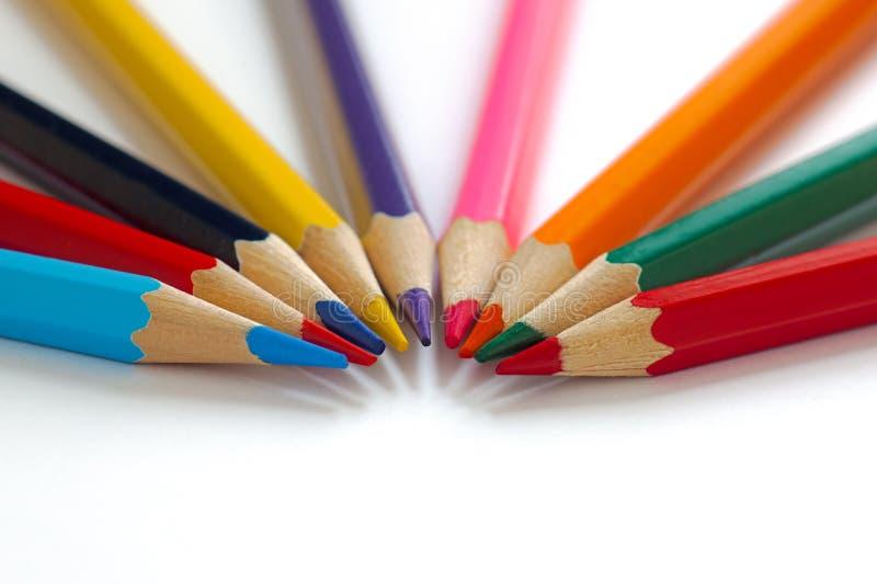 Jaskrawi ołówki wpólnie obrazy stock