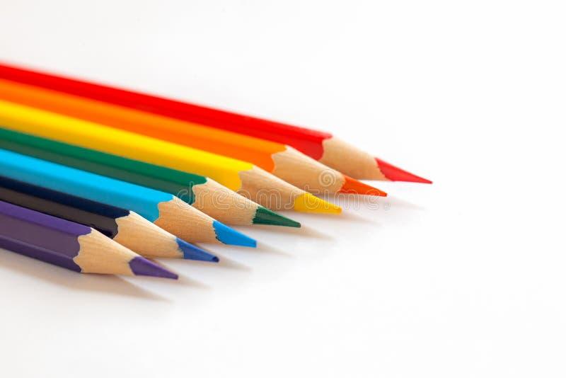 Jaskrawi ołówki wpólnie fotografia royalty free