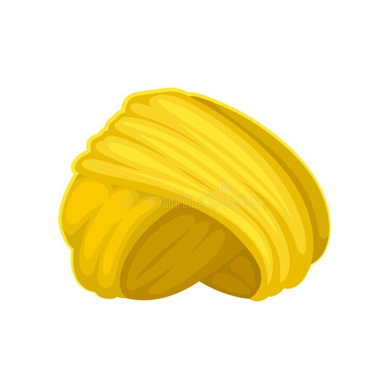 Jaskrawy żółty turban t?a ilustracyjny rekinu wektoru biel ilustracja wektor
