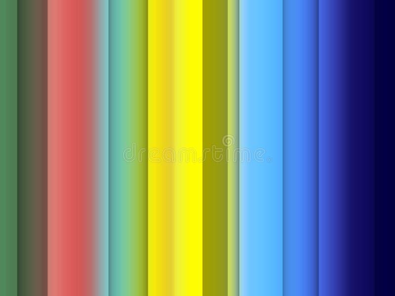 Jaskrawy żywy czerwony błękitny pomarańczowy miękkich linii tło, grafika, abstrakcjonistyczny tło i tekstura, ilustracja wektor
