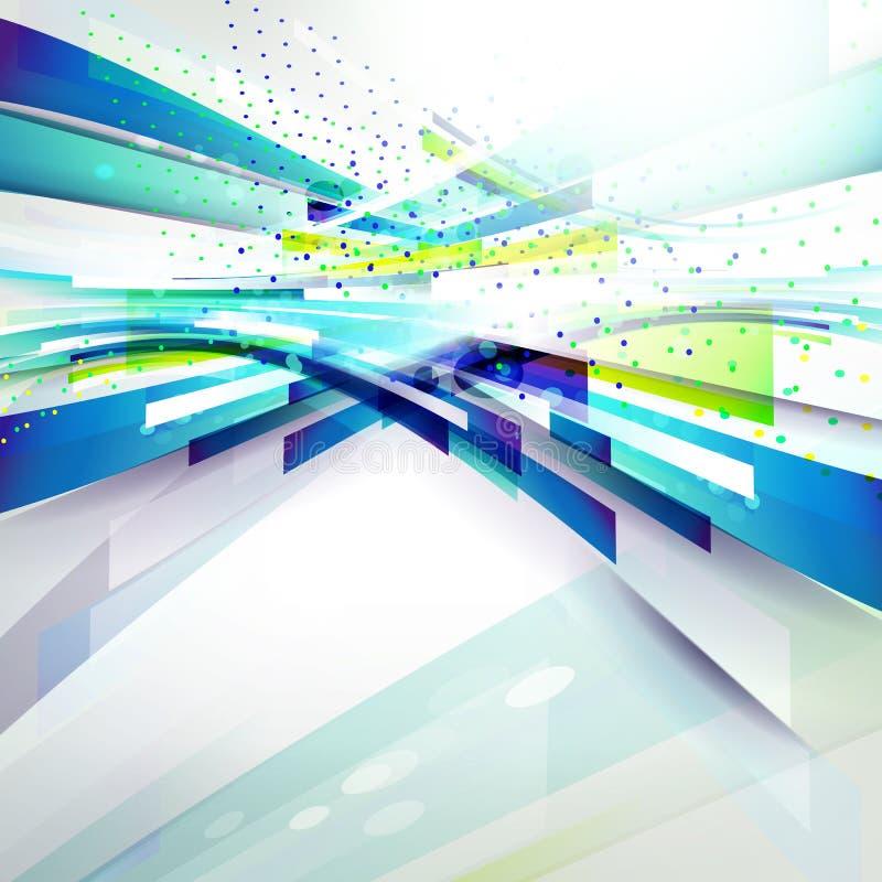 Jaskrawy abstrakcjonistyczny geometryczny tło dla tecnology prezentaci royalty ilustracja