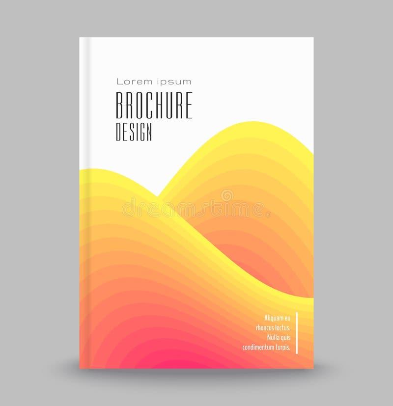 Jaskrawy abstrakcjonistyczny szablon dla pokryw, ulotki, sztandary, plakaty broszurka reklamowy szablon royalty ilustracja