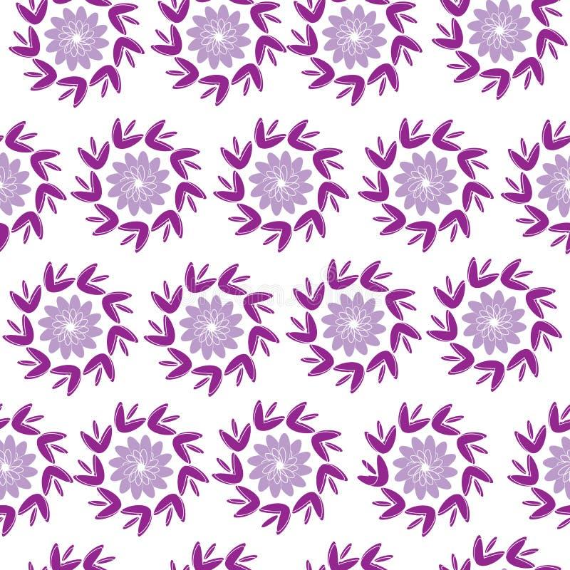 Jaskrawy abstrakcjonistyczny t?o, orientalny ornament Różowy ornament na białym tle Bezszwowa tekstura dla tkinini i płytek royalty ilustracja