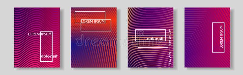 Jaskrawy abstrakta wzoru tło z kreskową teksturą dla biznesowego broszurki pokrywy projekta ilustracji