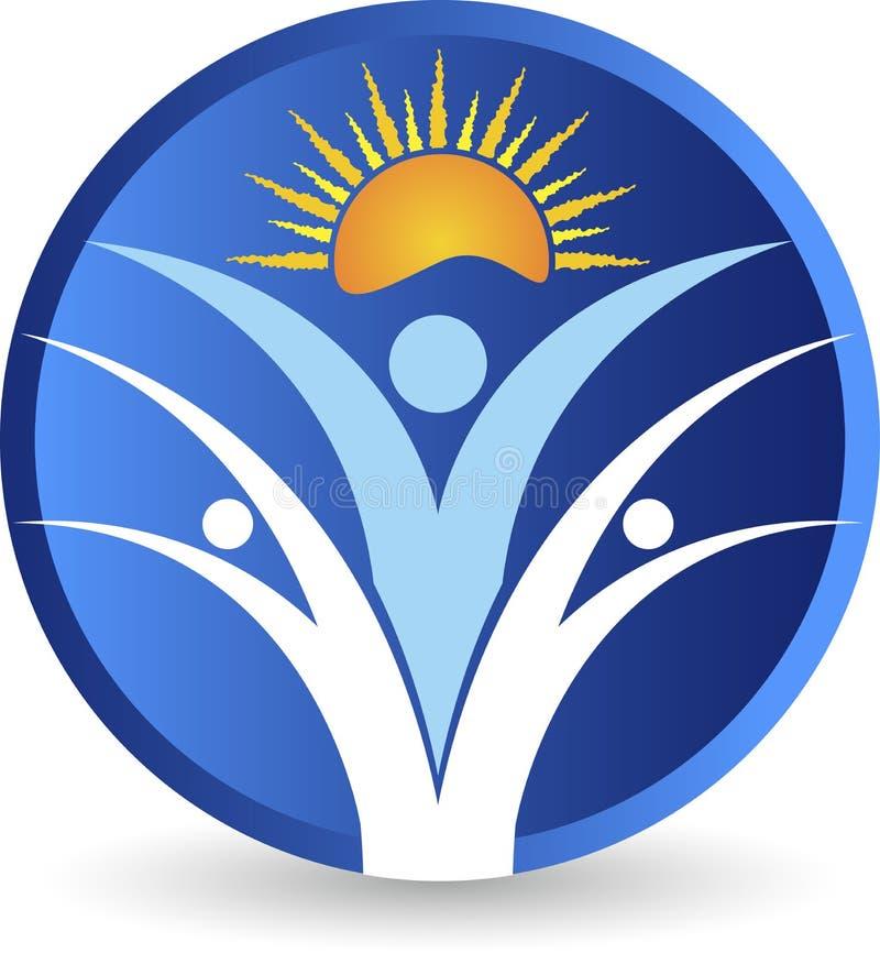 Jaskrawy aktywny para logo royalty ilustracja