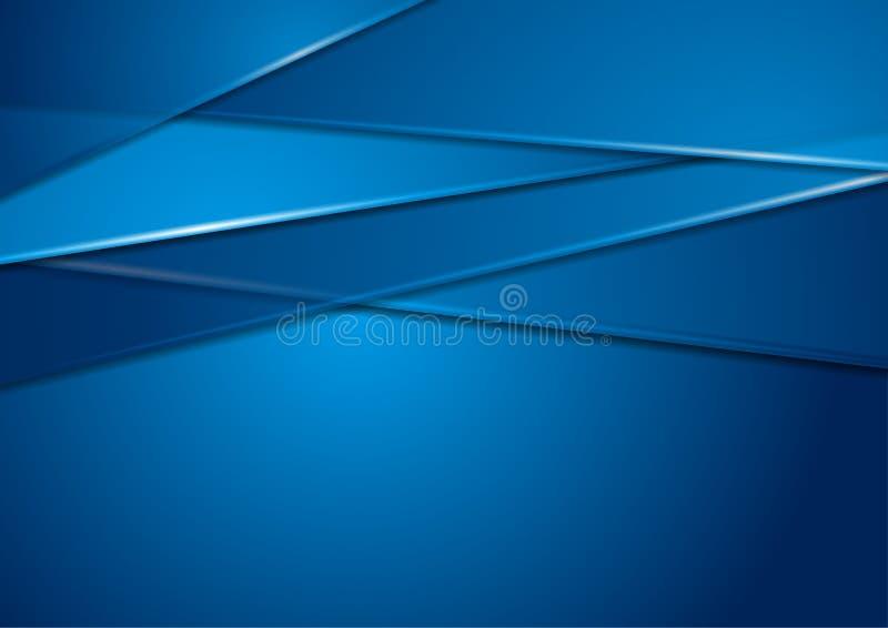 Jaskrawy błękitny abstrakcjonistyczny korporacyjny tło ilustracji