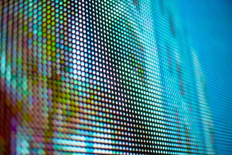Jaskrawy błękitny barwiony smd PROWADZĄCY ekran zdjęcia royalty free