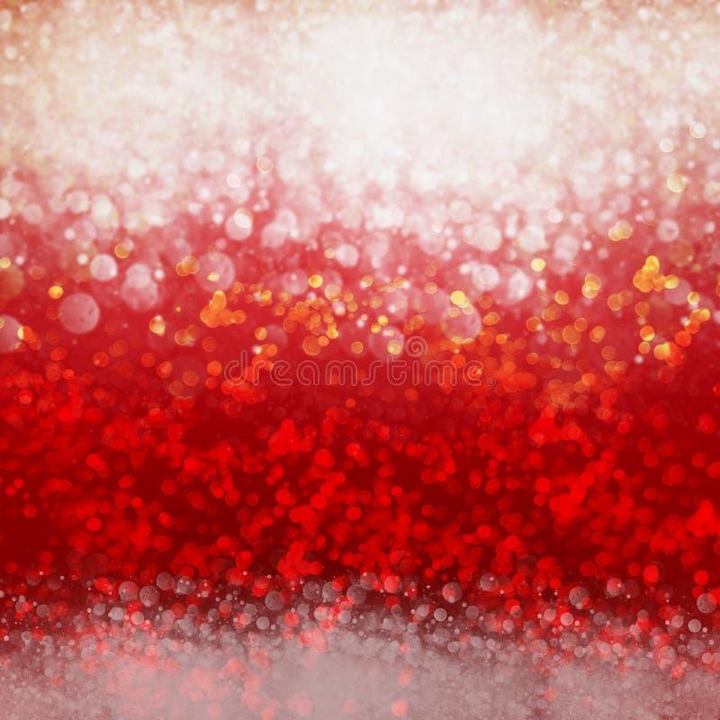 Jaskrawy Biały Czerwony Iskrzasty tło royalty ilustracja