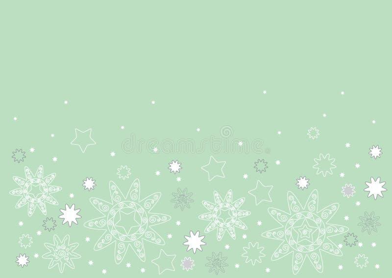 jaskrawy bożych narodzeń projekta zieleń ilustracji