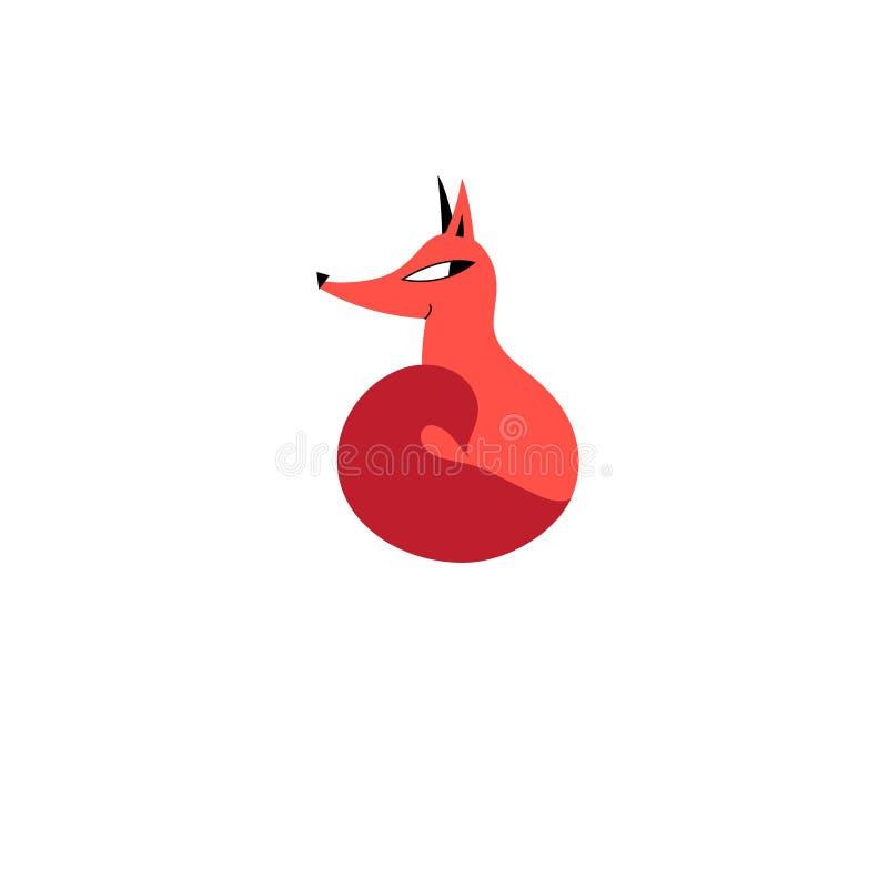 Jaskrawy czerwonego lisa znak ilustracja wektor