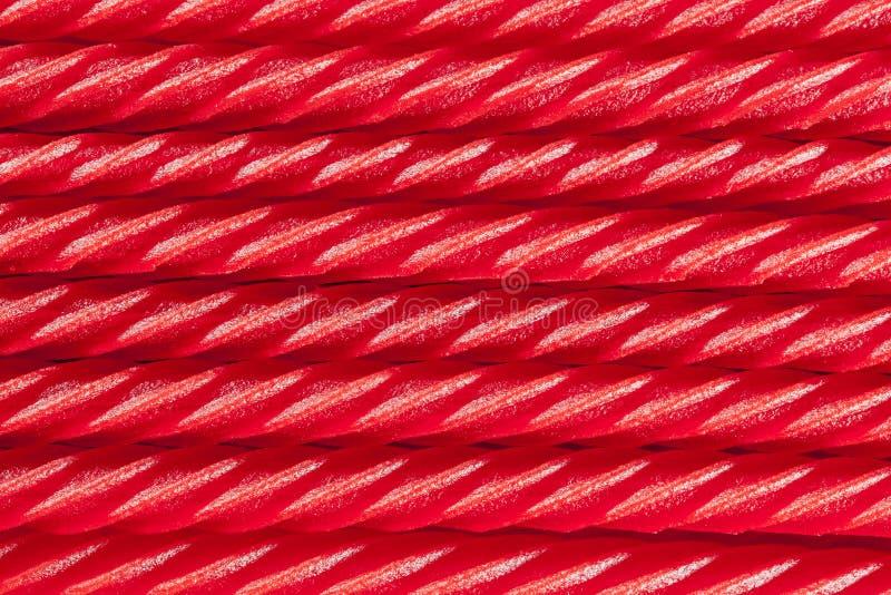 Jaskrawy Czerwony Lukrecjowy cukierek zdjęcie royalty free
