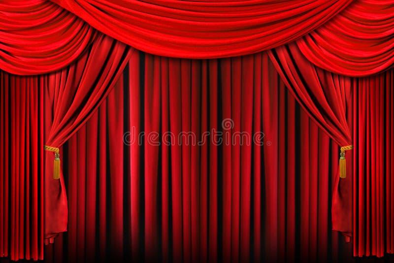 jaskrawy dramatyczna oświetleniowa czerwona scena royalty ilustracja