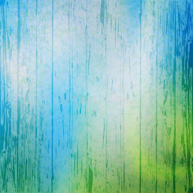 Jaskrawy drewniany tło abstrakcyjny tło Błękitny tło royalty ilustracja