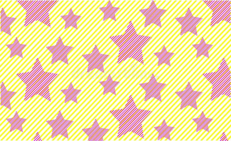 Jaskrawy druk menchii gwiazd lata wzoru minimalisty tło royalty ilustracja