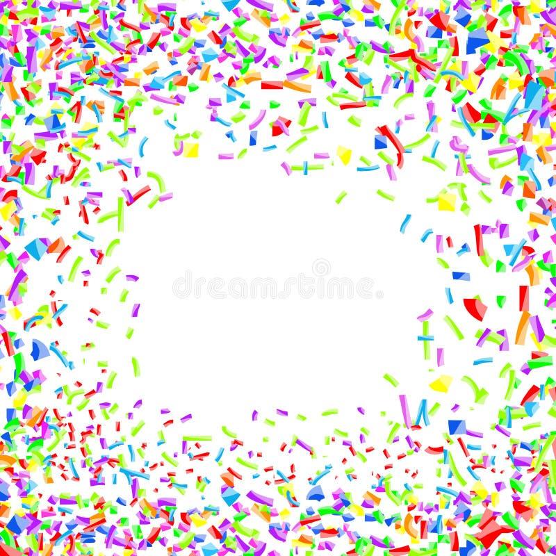 Jaskrawy dziecięcy wesoło kolorowy confetti tło royalty ilustracja