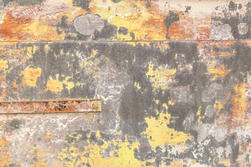 Jaskrawy ekspresyjny tło różni kolory na metalu obraz stock