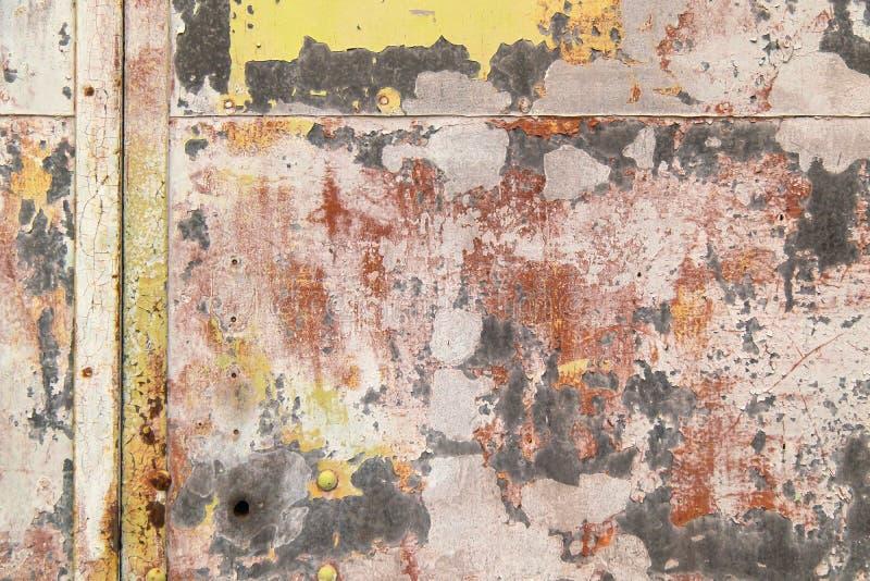 Jaskrawy ekspresyjny tło różni kolory na metalu zdjęcie royalty free