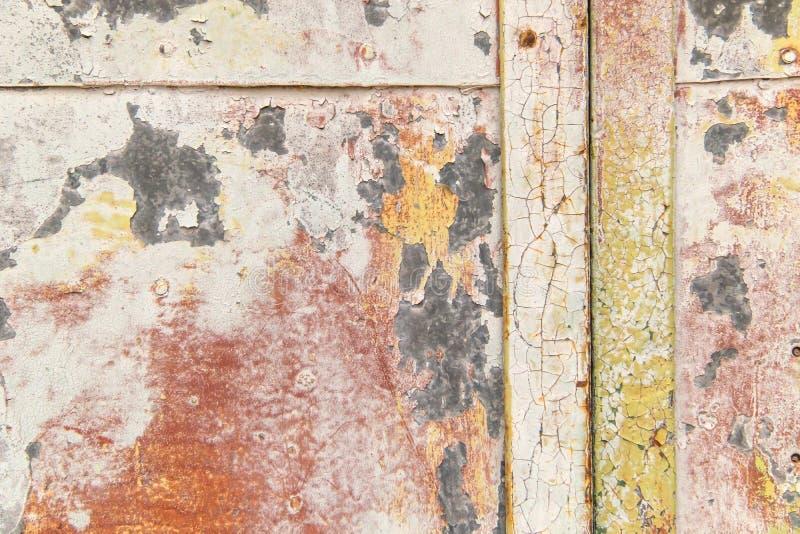 Jaskrawy ekspresyjny tło różni kolory na metalu zdjęcia royalty free