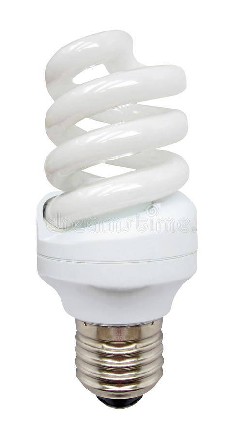 jaskrawy energetyczny glassbulb Kyoto władzy oszczędzania biel obrazy stock
