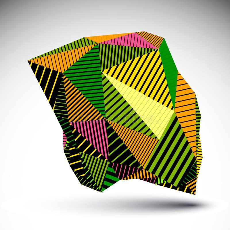 Jaskrawy geometryczny wektorowy abstrakt 3D komplikował tło, eps8 c ilustracja wektor