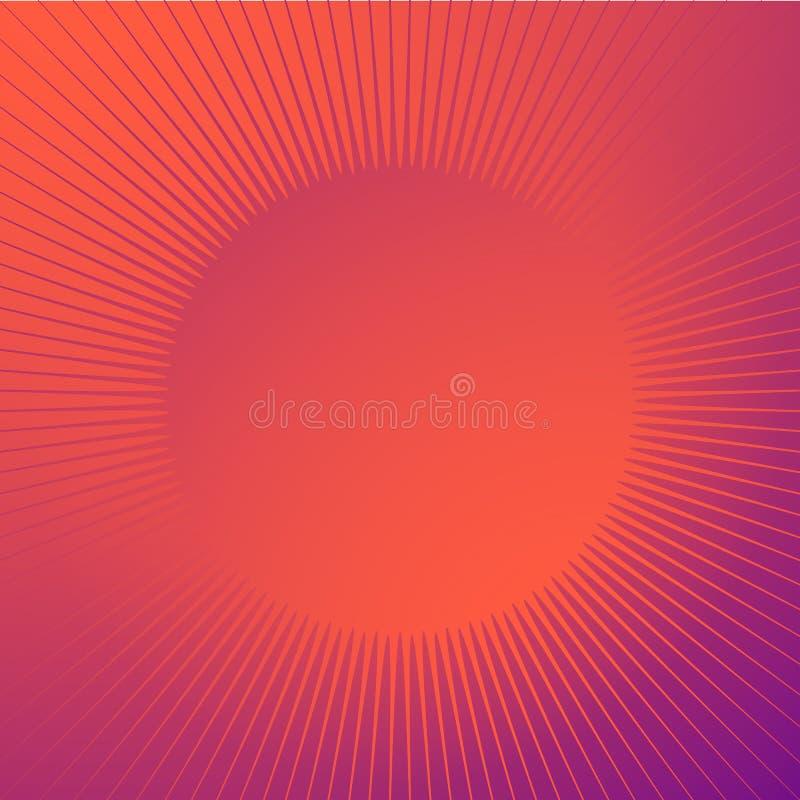 Jaskrawy glansowany tło z błyskotanie kształtem Promieniowe linie, starb ilustracji