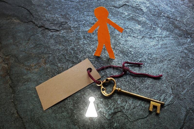Jaskrawy keyhole mężczyzna obrazy stock