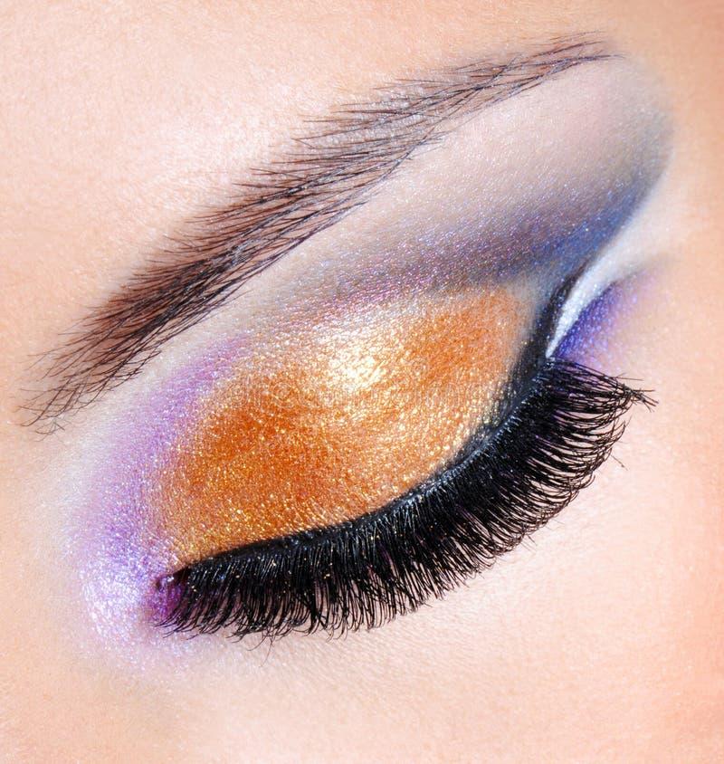 jaskrawy kolorów mody makeup obraz stock