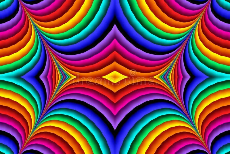 Jaskrawy kolorowy abstrakt wykłada dla tła Grafika dla kreatywnie sztuki i projekta ilustracja wektor