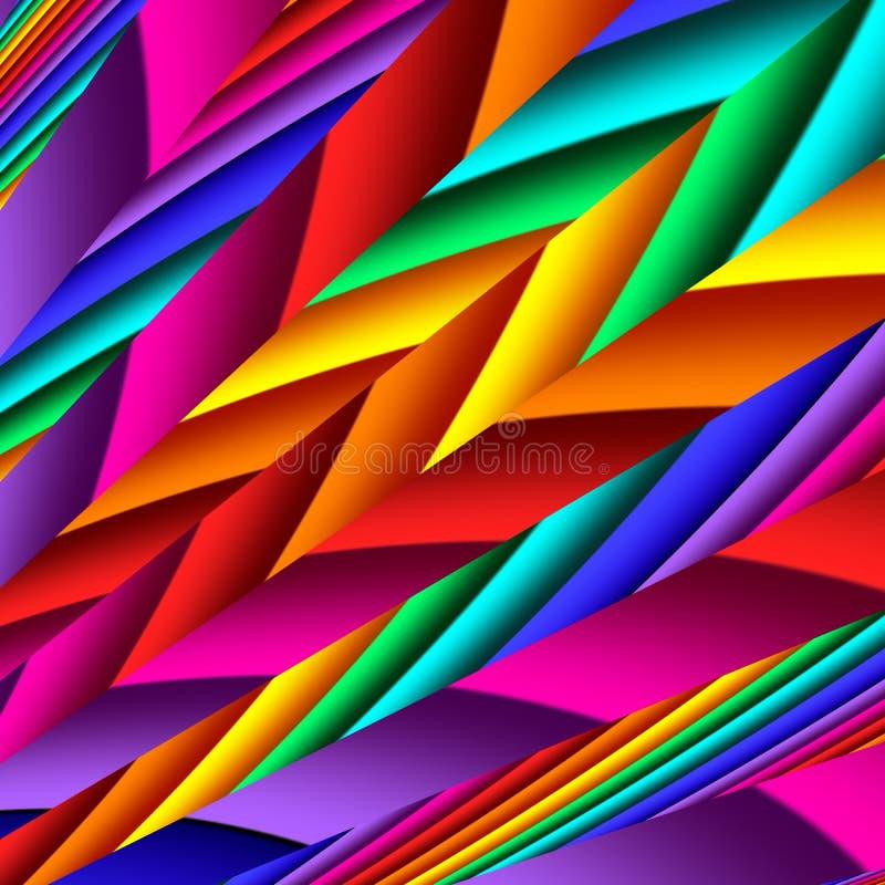 Jaskrawy kolorowy abstrakt wyk?ada dla t?a Grafika dla kreatywnie sztuki i projekta ilustracja wektor