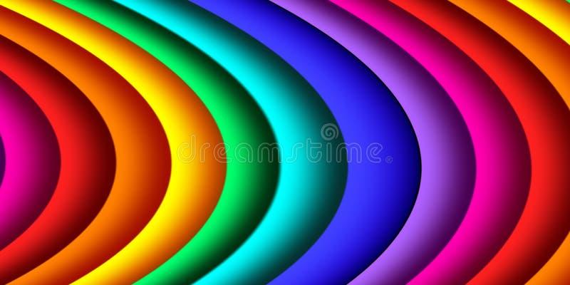 Jaskrawy kolorowy abstrakt wyk?ada dla t?a Grafika dla kreatywnie sztuki i projekta royalty ilustracja