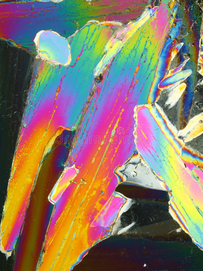 jaskrawy kolorowy kryształu lód zdjęcie stock