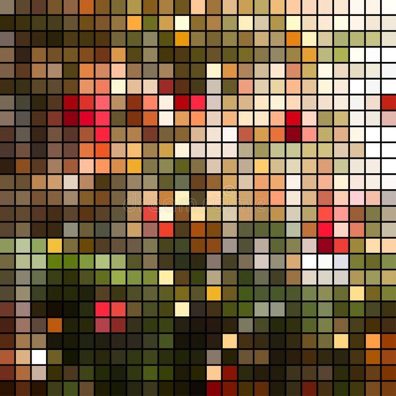 Jaskrawy kolorowy mozaiki tło ilustracja wektor