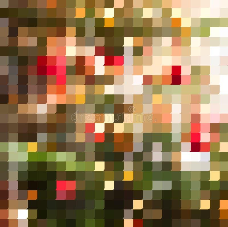Jaskrawy kolorowy mozaiki tło ilustracji