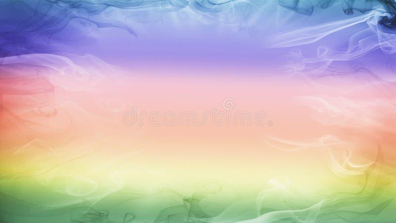 Jaskrawy kolorowy smokey tło zdjęcie royalty free