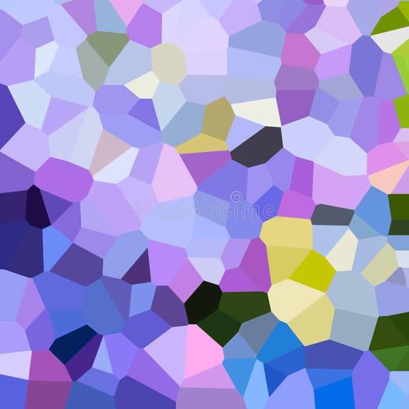 Jaskrawy kolorowy wzór Mozaika geometryczni kształty Barwioni wieloboki abstrakcyjny tło royalty ilustracja