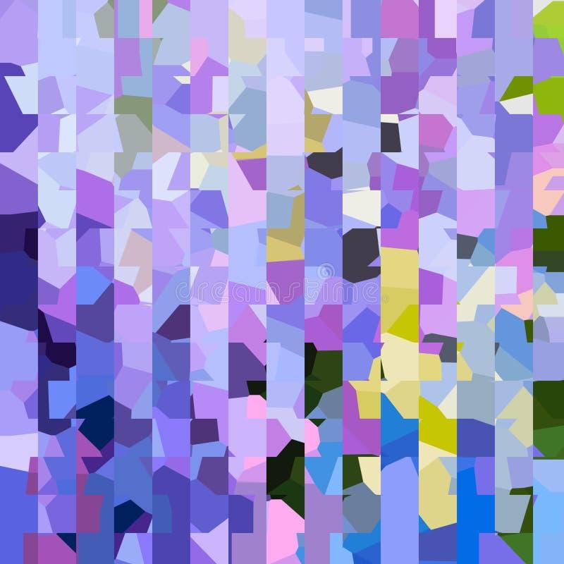 Jaskrawy kolorowy wzór Mozaika geometryczni kształty Barwioni wieloboki abstrakcyjny tło ilustracji