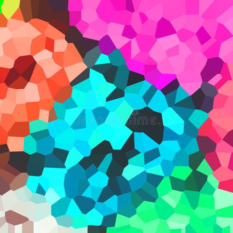 Jaskrawy kolorowy wzór Mozaika geometryczni kształty Barwioni wieloboki abstrakcyjny tło ilustracja wektor