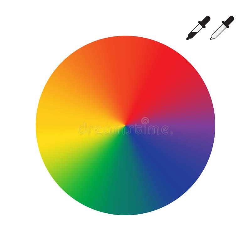 Jaskrawy koloru koło odizolowywający na białym tle ilustracji
