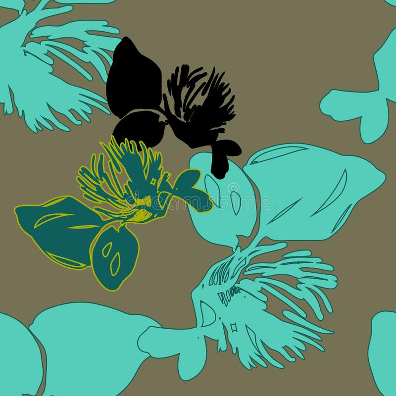 Jaskrawy koloru rocznika wiosny kwiatu wzór zdjęcie royalty free