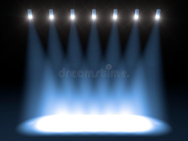 jaskrawy koncertowa scena royalty ilustracja