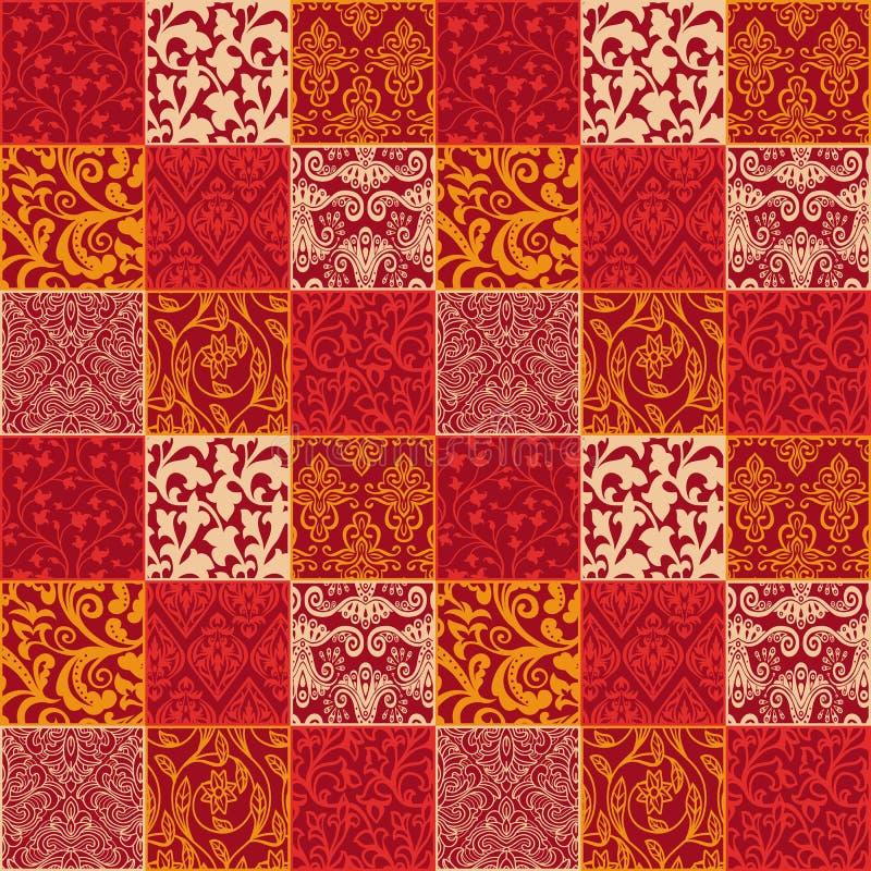 Jaskrawy kwiecisty bezszwowy wzór royalty ilustracja